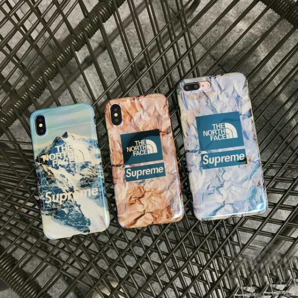 Supreme The North Face iphone xr ケースブランド IPhone Xs/Xs Max/Xr携帯カバーシュプリーム アイフォン 8/xケース ブランドiphone xs maxケースSUPREME アイフォン6s
