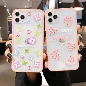 LV iPhone 11Pro/11Pro Maxクリアケース ピンク 可愛い ルイヴィトン iphone 11/seカバー 透明感 レディス lv アイフォンxs max/xs/xr/x透明カバー ...